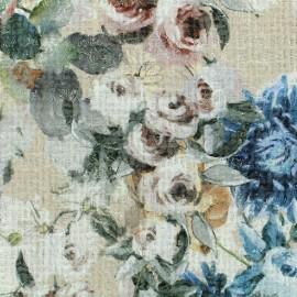 Tweed fabric Chanel Roses - beige x 10cm