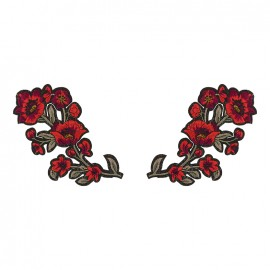 Thermocollant Old School Flower (1paire) - rose