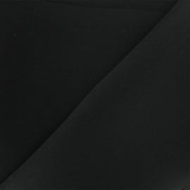 Tissu Néoprène Scuba uni - noir x 10cm