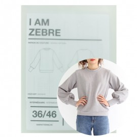 Patron Femme I AM  Sweat- Shirt - I am Zebre