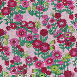 Tissu voile de coton Froufrou Les Floraux - rose bonbon x10cm