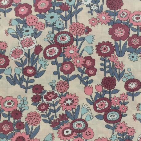 Les Floraux Froufrou cotton veil - old pink  x10cm