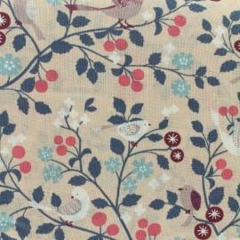 Les Oiseaux Froufrou cotton veil - old pink  x10cm