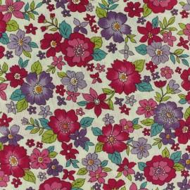 Tissu voile de coton Froufrou Les Grands Bouquets - grenat x10cm