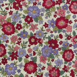 ♥ Coupon 25 cm X 110 cm ♥ Les Grands Bouquets Froufrou cotton veil - burgundy