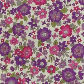 Tissu voile de coton Froufrou Les Grands Bouquets - violet x10cm