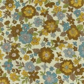 Tissu voile de coton Froufrou Les Grands Bouquets - moutarde x10cm