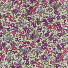 Tissu voile de coton Froufrou Les Petits Bouquets - violet x10cm
