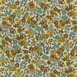 Tissu voile de coton Froufrou Les Petits Bouquets - moutarde x10cm
