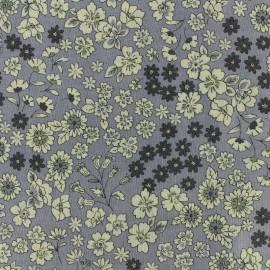 Tissu voile de coton Froufrou Les Fleuris - lavande x10cm
