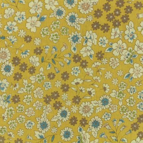 Les Fleuris Froufrou cotton veil - mustard x10cm