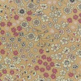 Tissu voile de coton Froufrou Les Fleuris - vieux rose x10cm