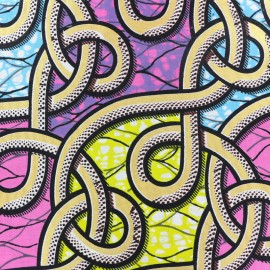 Tissu Wax - Hupa x 10cm