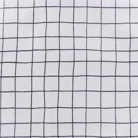 Tissu coton enduit mat Rico design Carreaux - noir x 10cm