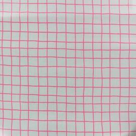 Tissu coton enduit mat Rico design Carreaux - vert d'eau x 10cm