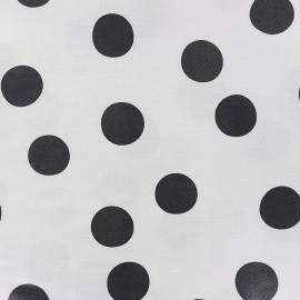 Tissu coton enduit mat Rico design Pois - blanc/noir x 10cm