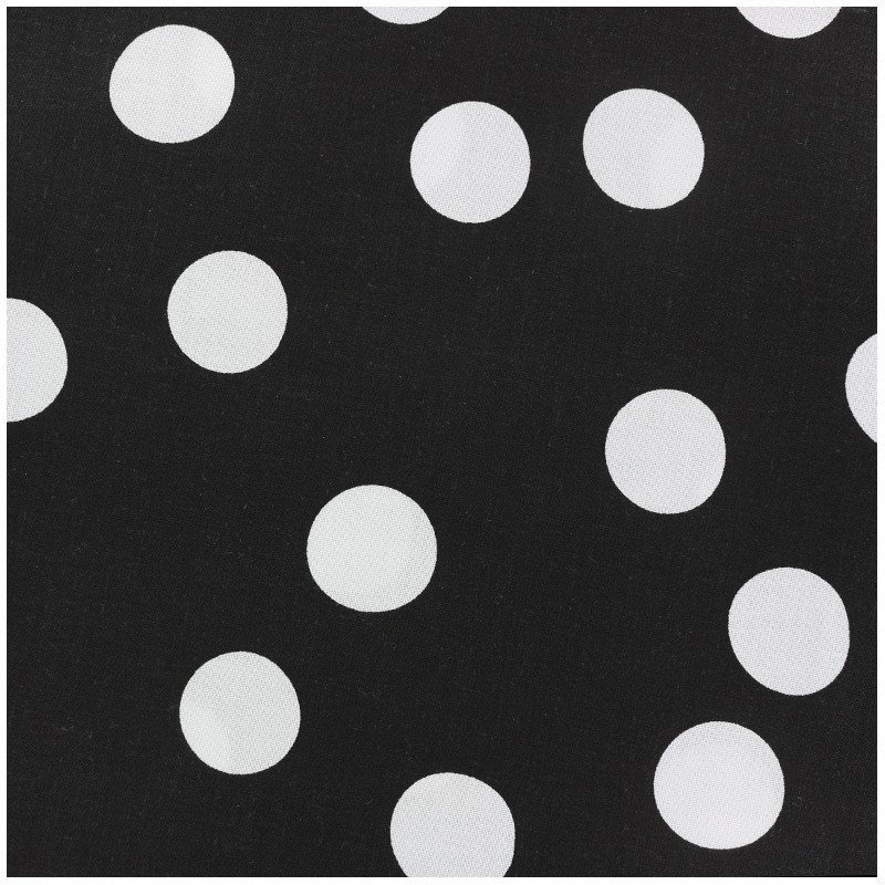 72100ab9d54 Tissu coton Rico design Pois - noir blanc x 10cm