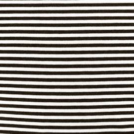 Viscose jersey fabric Rayures - ecru/black x 10cm