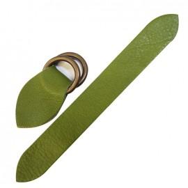 Patte cuir double passant Moss