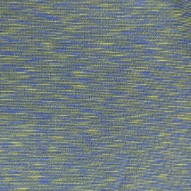Quilted sweat fabric Elgin - yellow/blue x 10cm