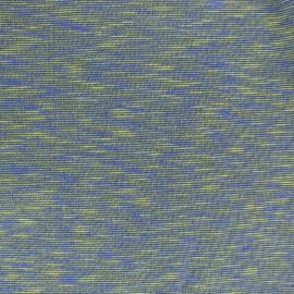 Tissu sweat molletonné Elgin - jaune/bleu x 10cm