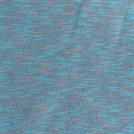 Quilted sweat fabric Elgin - sky/pink x 10cm