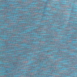 Tissu sweat molletonné Elgin - ciel/rose x 10cm