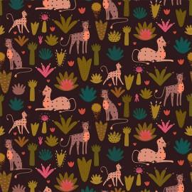 Tissu coton Dashwood Serengeti - Dark main leopard x 10cm