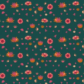 Dashwood cotton fabric Serengeti - Spruce flower x 10cm