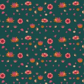 Tissu coton Dashwood Serengeti - Spruce flower x 10cm