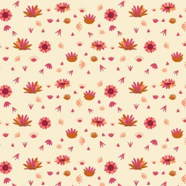 Dashwood cotton fabric Serengeti - Cream flower x 10cm