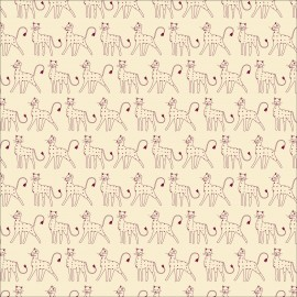 Tissu coton Dashwood Serengeti - Cream leopards x 10cm