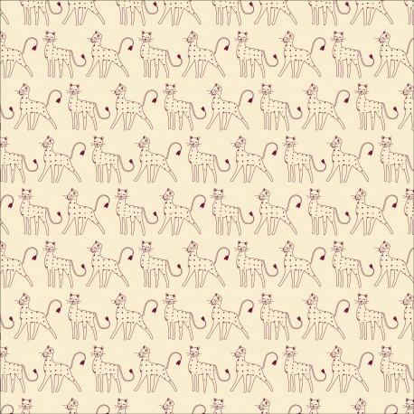 Dashwood cotton fabric Serengeti - Cream leopards x 10cm