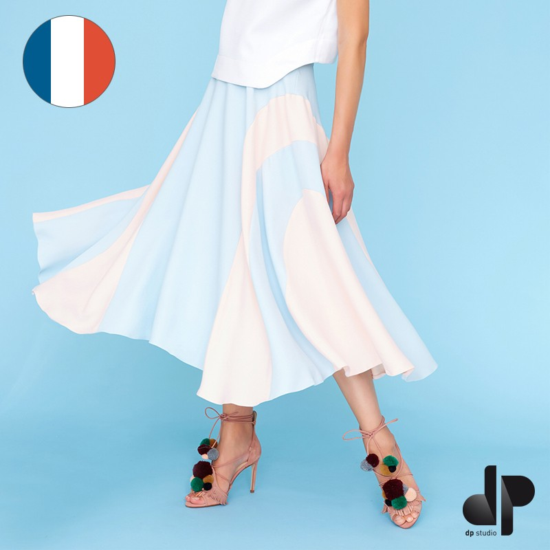 7d68a345e Sewing pattern DP Studio Skirt with godets and seam detail - Le 403