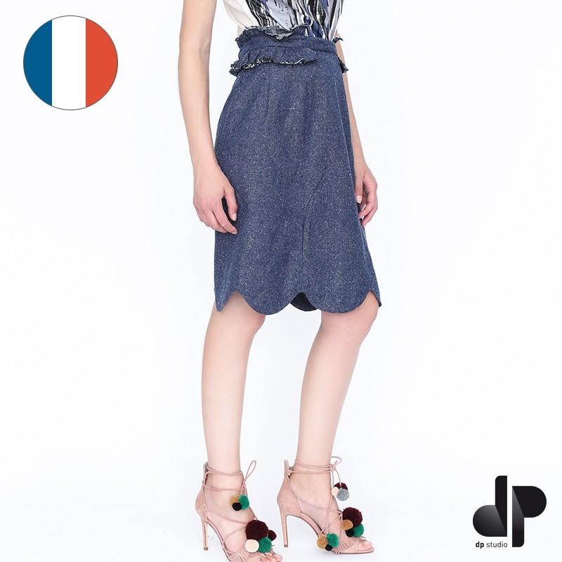 Patron dp studio jupe droite galons volant s le 404 - Patron couture jupe droite ...