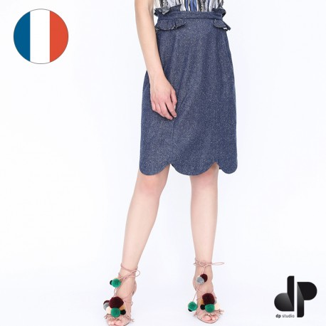 Sewing pattern DP Studio Straight skirt with frilled trims - Le 404