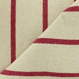 Tissu jacquard tissé teint Saint Tropez - rouge x 10cm