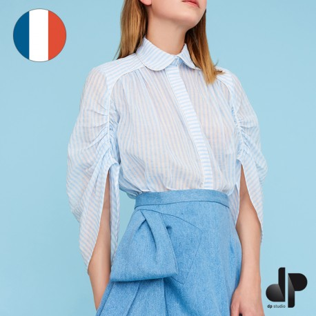 Sewing pattern DP Studio Gathered piped shirt - Le 603