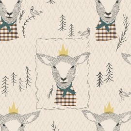 ♥ Coupon 200 cm X 110 cm ♥   AGF fabric AGF Sir Wooly - white