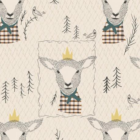 AGF fabric AGF Sir Wooly - white x 19cm