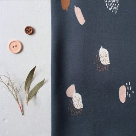 Tissu viscose Atelier Brunette - Moonstone blue x 10cm
