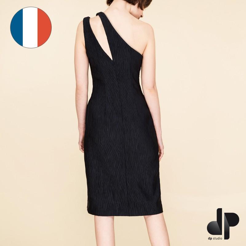 sewing pattern dp studio asymmetric sheath dress le 902