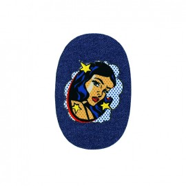Space iron on patch - small rectangle C