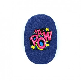 Comic Strip elbow-and-knee iron-on patch - kapow