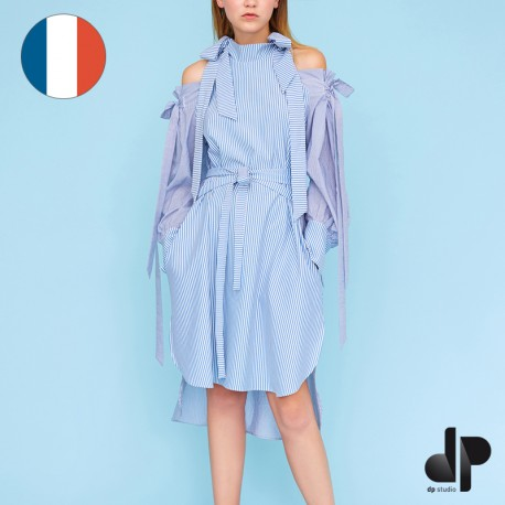 Sewing pattern DP Studio Belted bow dress, off-the-shoulder  - Le 910