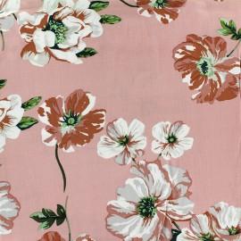 Tissu viscose Lovely Blossom - rose x 10cm