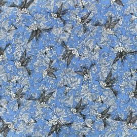 Tissu viscose Colibri Elena - bleu x 10cm