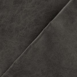 Leather upholstery fabric Colorado Old-looking Aspect - black coffee x 10cm