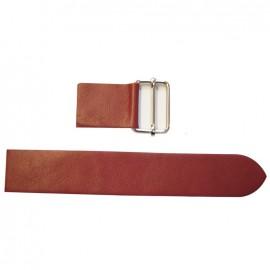 Leather strap with sliding bar adjuster, Bordo - burgundy