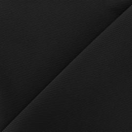 Tissu jersey côte de cheval - noir x 10cm
